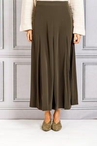 Inverted Box Pleat Skirt - Forest