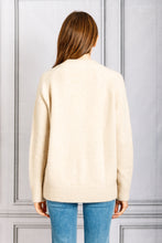 Load image into Gallery viewer, V Neck Oversized Knit Cardigan - Sand