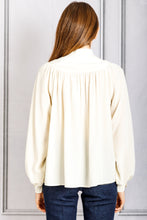 Load image into Gallery viewer, Pamina Gathered Yoke Button Blouse - Ecru