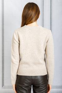 Long Sleeve Crewneck Sweater - Sand Melange