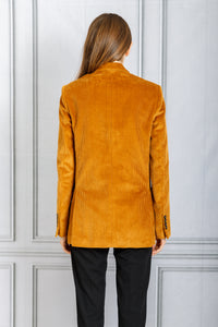 Mathilde Double Breasted Classic Corduroy Blazer - Camel