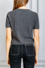 Load image into Gallery viewer, Ethan Short Sleeve Ribbed Tee - Stone