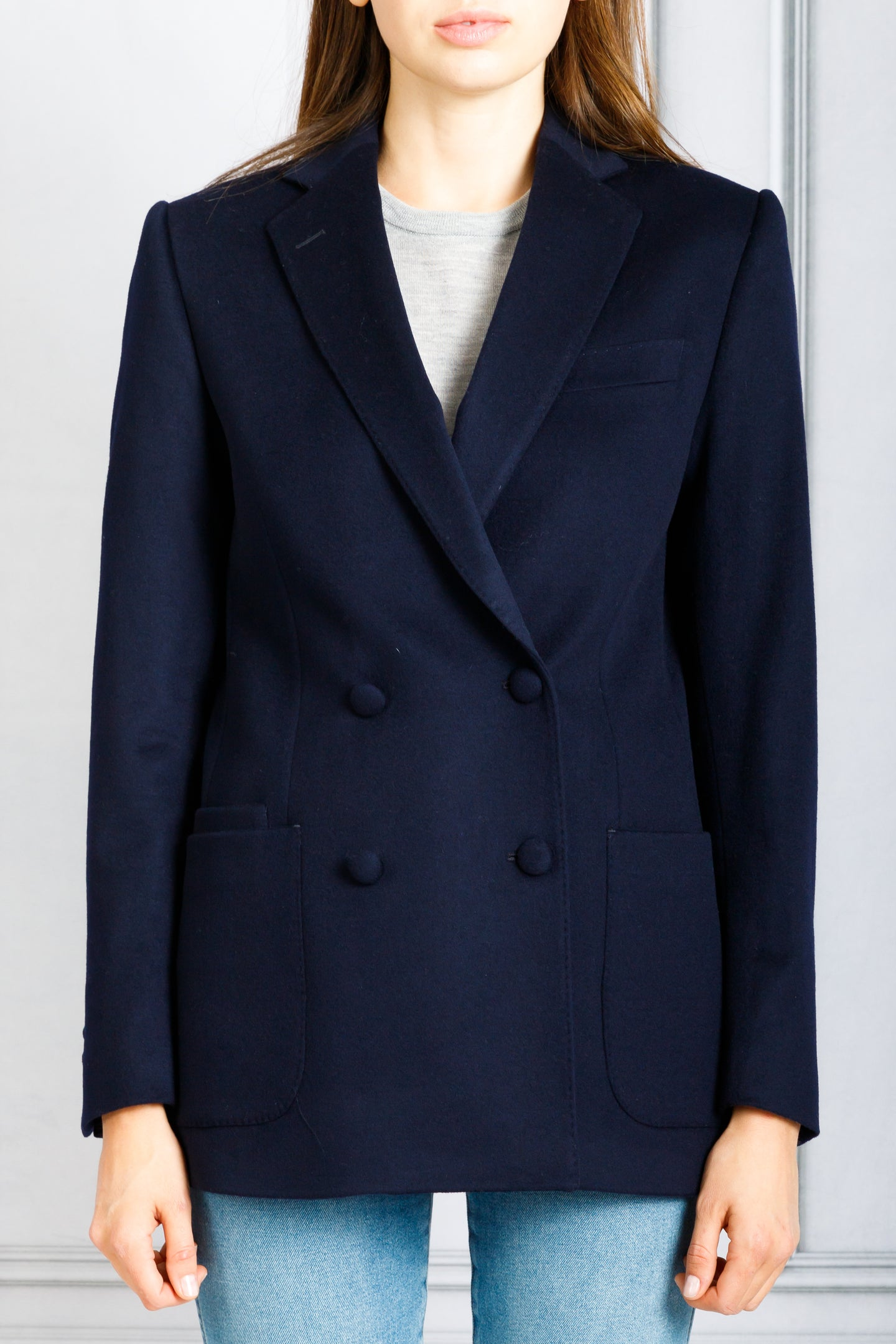 Mathilde Double Breasted Classic Blazer - Navy