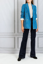 Load image into Gallery viewer, Double Breasted Denim Blazer - Delave