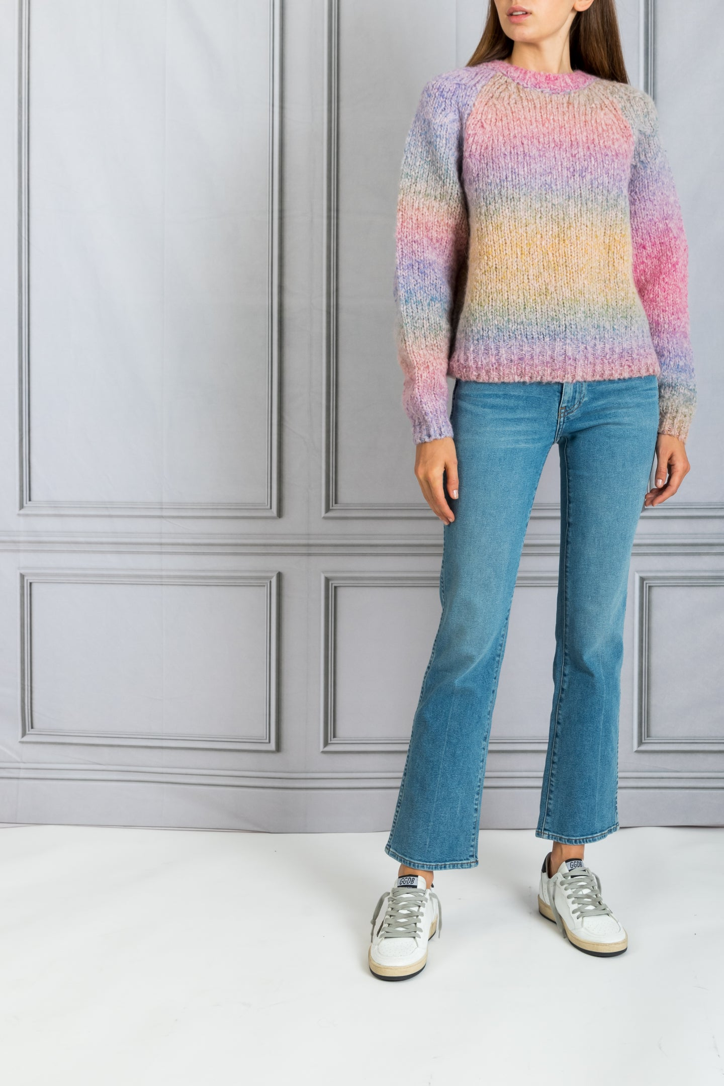 Percy Crewneck Chunky Sweater - Multi