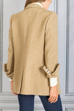 Load image into Gallery viewer, Lady Anne Herringbone Double Breasted Blazer - Beige