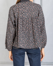Load image into Gallery viewer, Prado Floral Full Sleeve Blouse - Noir