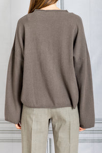 Vacca Raglan Cashmere Sweater - Taupe