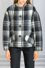 Load image into Gallery viewer, Presley Blouson Plaid Jacket - Noir