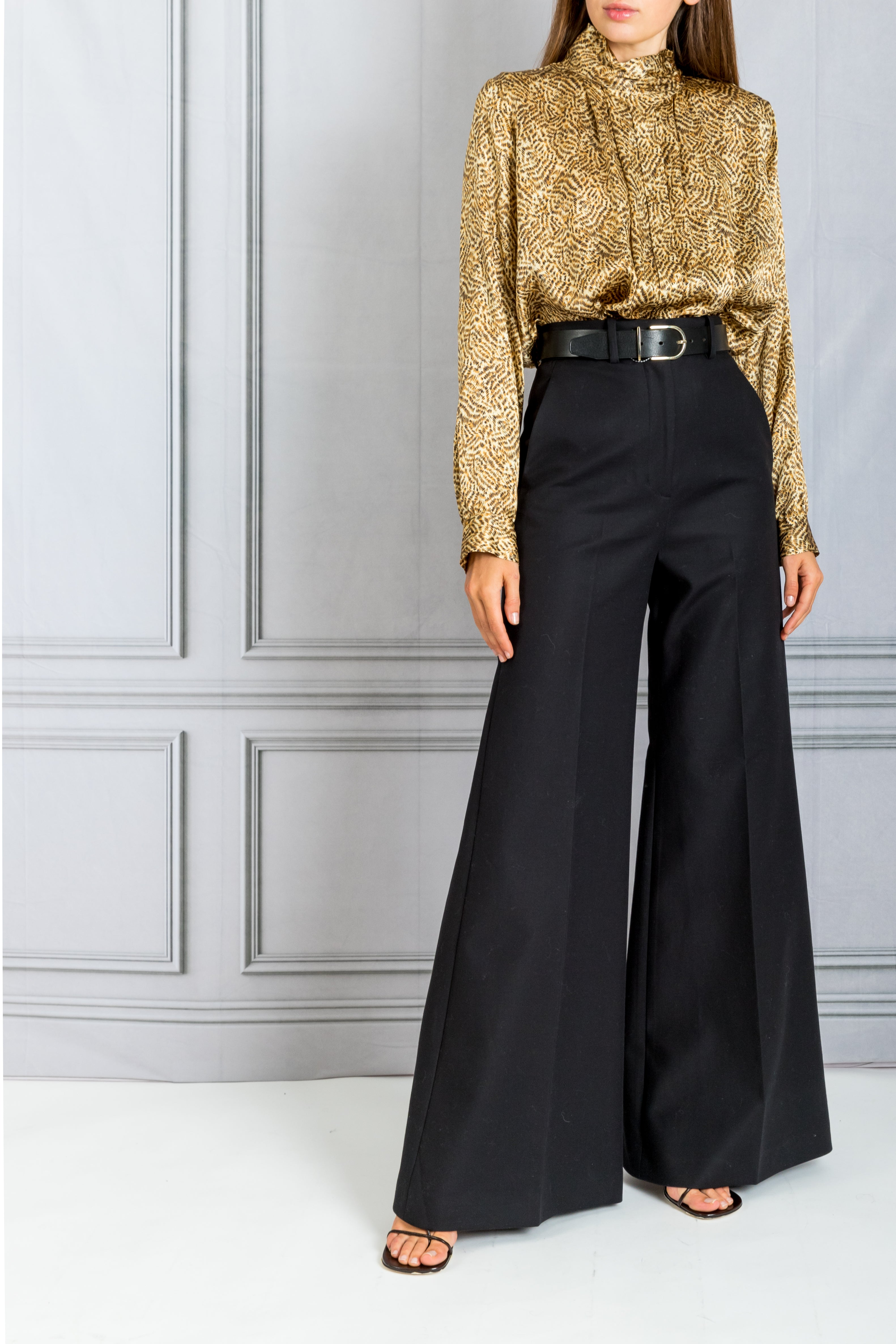 Bernadette High Waist Flare Trouser - Black