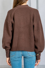 Load image into Gallery viewer, Tiberine Cardigan Sweater - Dark Brown