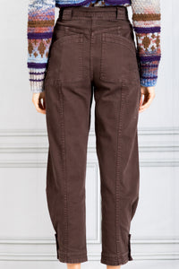 Carmen Tapered Leg Denim Jean - Umber