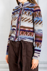 Purdie Button Down Cardigan - Multi