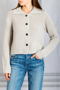 Jackson Button Down Sweater - Nutmeg