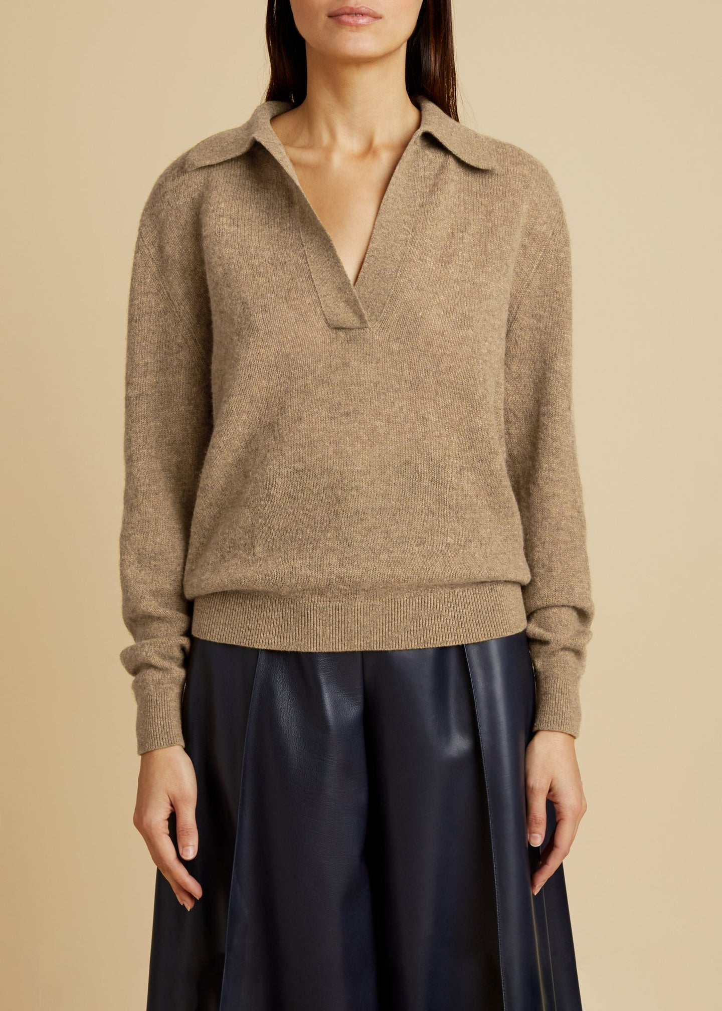 Khaite Jo Polo Neck Sweater