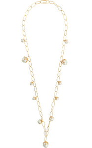 Albizia 18k Gold Plated Long Necklace