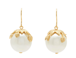 Albizia 18k Gold Plated Pearl Drop Earrings