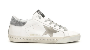 Superstar Swarovski Low Sneaker with Grey Star