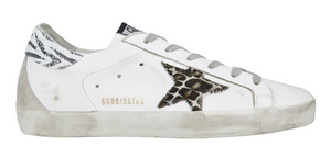 Superstar Low Top Sneaker with Animal Print Star
