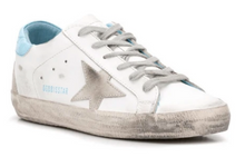 Load image into Gallery viewer, Superstar Low Top Sneaker with Ciel Heel Tab and Grey Star