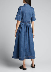 CO Belted Denim Midi Shirtdress