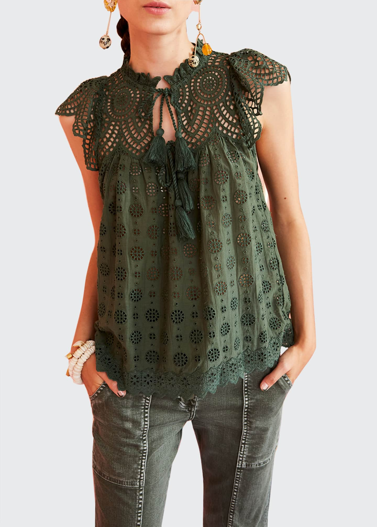 Ulla Johnson Calliope Eyelet Top