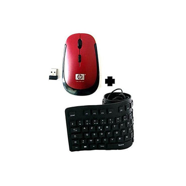 HP Clavier USB Flexible + Souris Sans fil