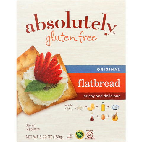 ABSOLUTELY GLUTEN FREE: Flatbread Gluten Free Original, 5.29 oz
