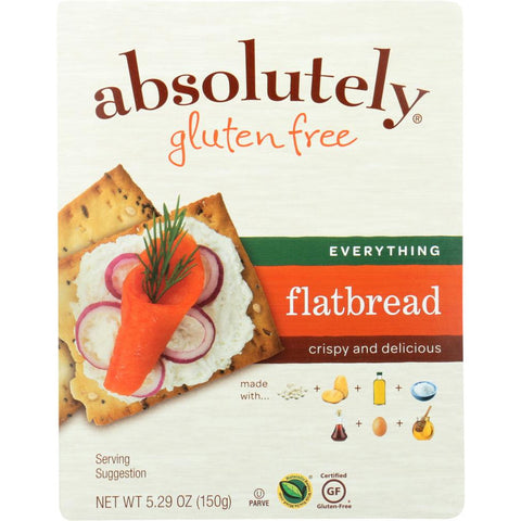 ABSOLUTELY GLUTEN FREE: Flatbread Gluten Free Everything, 5.29 oz