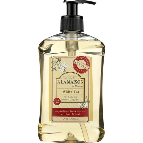 A LA MAISON DE PROVENCE: Hand & Body Liquid Soap White Tea, 16.9 Oz