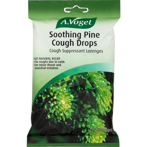 A VOGEL: Soothing Pine Cough Drops, 18 lozenges
