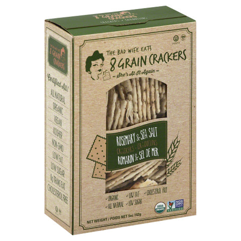 8GRAIN: Rosemary & Sea Salt Crackers, 5 oz