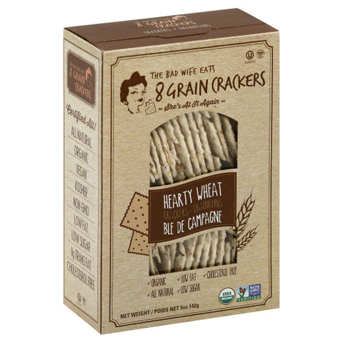 8GRAIN: Hearty Wheat Crackers, 5 oz