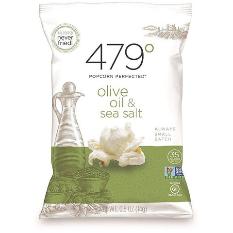 479 DEGREES: Olive Oil & Sea Salt  Popcorn, 0.5 oz