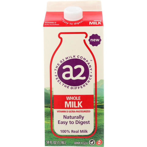 A2: Milk Ultra Pasteurized Whole Milk, 59 oz