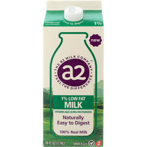 A2 MILK: Low Fat 1 Percent Milk, 59 fo