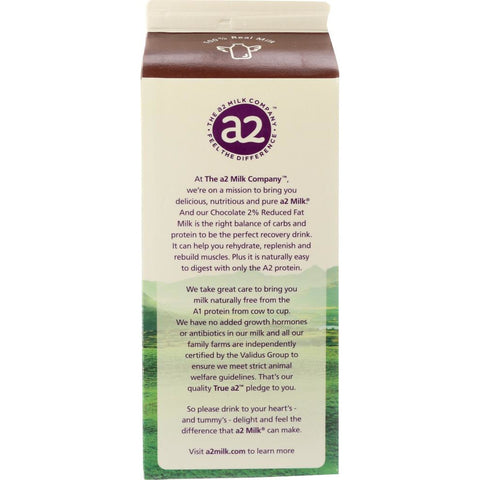 A2 MILK: Chocolate 2% Reduced Fat Milk, 59 fl oz