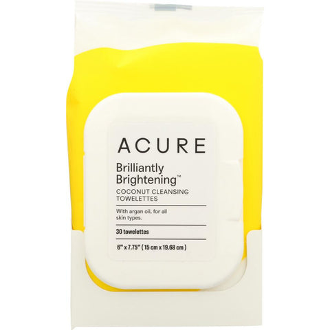 ACURE: Brilliantly Brightening Coconut Cleansing Towelettes, 30 Towelettes