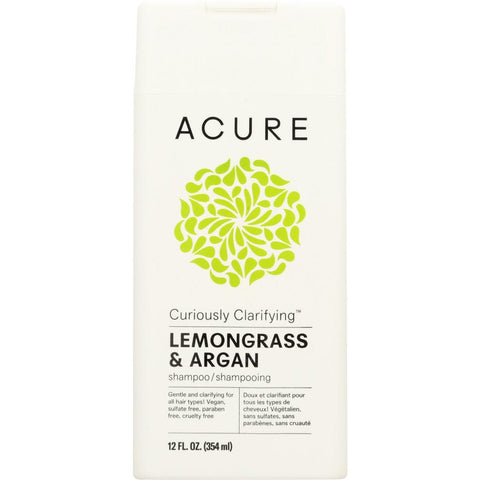 ACURE: Curiously Clarifying Shampoo Lemongrass & Argan, 12 fl oz