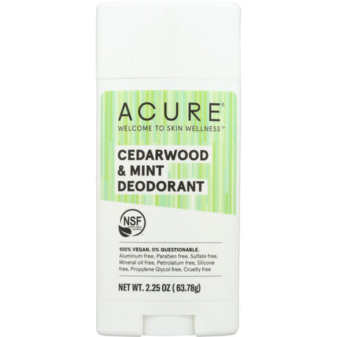 ACURE: Deodorant Cedarwood Mint, 2.25 oz