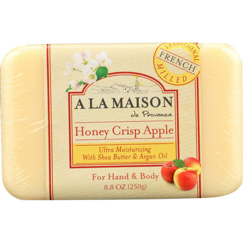 A LA MAISON DE PROVENCE: Honey Crisp Apple Bar Soap, 8.8 oz