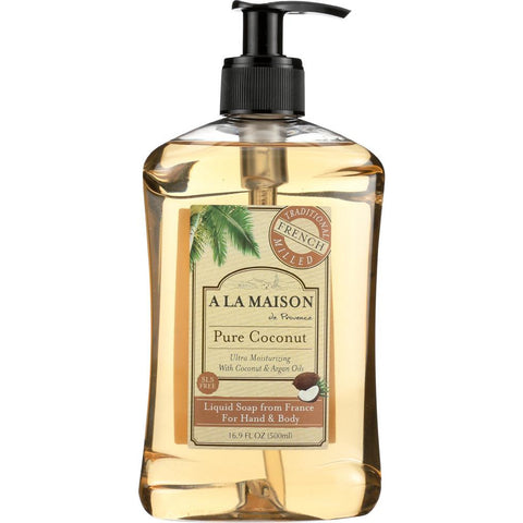A LA MAISON DE PROVENCE: Hand & Body Liquid Soap Pure Coconut, 16.9 oz