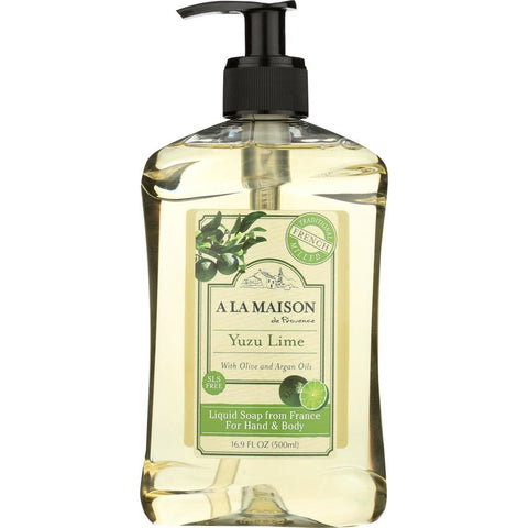 A LA MAISON: Yuzu Lime Liquid Soap, 16.9 fl oz