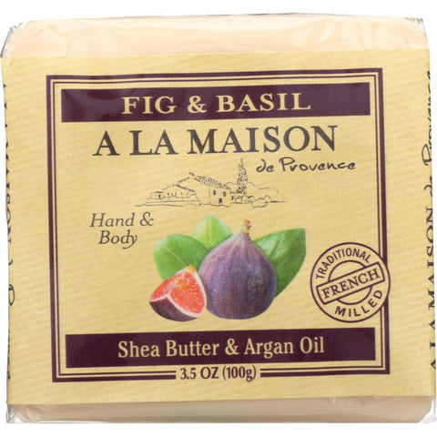 A LA MAISON DE PROVENCE: Mini Soap Bar Fig & Basil, 3.5 oz
