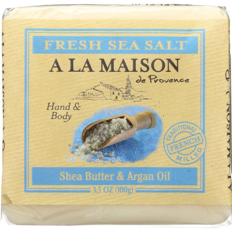 A LA MAISON DE PROVENCE: Fresh Sea Salt Mini Soap Bar, 3.5 oz