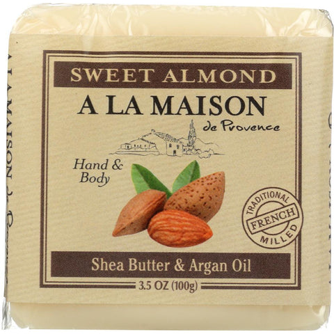 A LA MAISON DE PROVENCE: Sweet Almond Mini Soap Bar, 3.5 oz