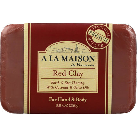 A LA MAISON: Soap Bar Earth Spa Red Clay, 8.8 oz