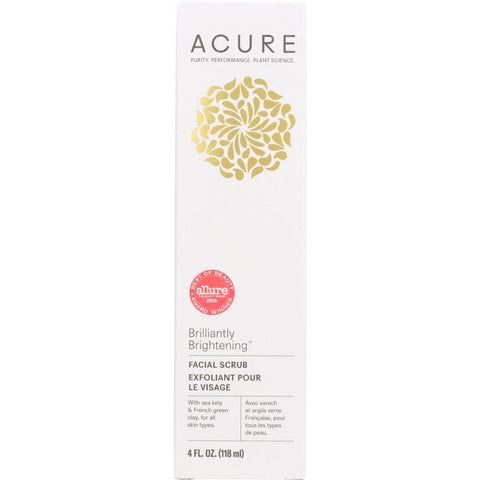 ACURE: Brilliantly Brightening Facial Scrub, 4 fl oz