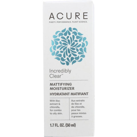 ACURE: Incredibly Clear Mattifying Moisturizer, 1.7 fl oz