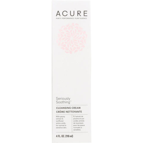 ACURE: Seriously Soothing Facial Cleansing Cream, 4 oz